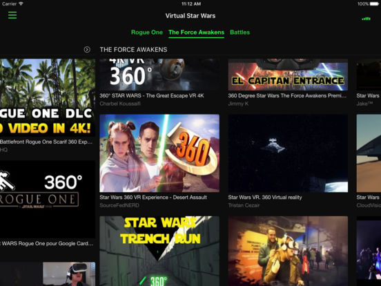 VR Player for Star Wars with Google CardBoard Screenshots