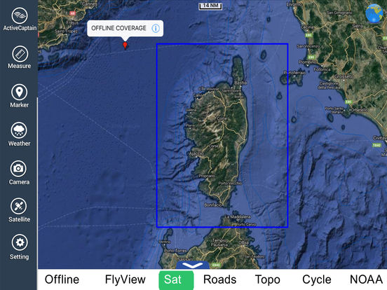 Marine: Corsica (Corse) HD - GPS Map Navigator iPad Screenshot 5