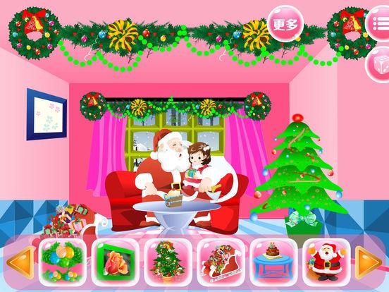 App shopper santa claus room decor merry christmas games for Xmas room decor games
