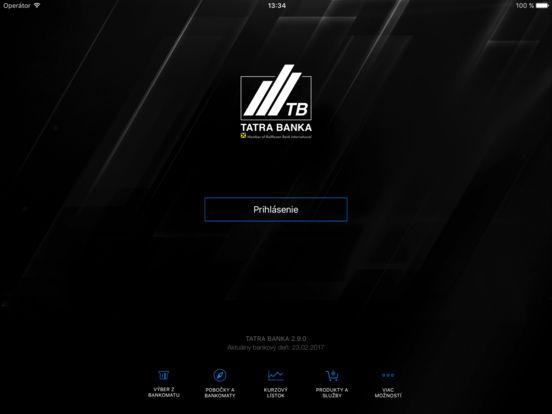 Tatra banka iPad Screenshot 1