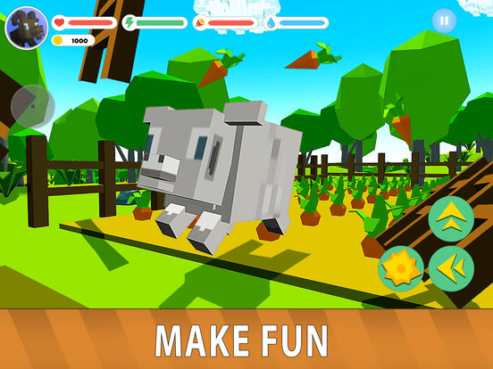 Blocky Sheep Farm 3D Full screenshot 6