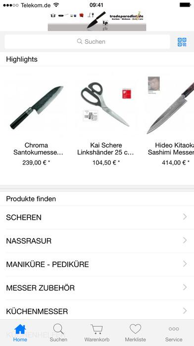tradeparadise.de - Ihr Shop rund ums Kochen, Lifestyle, Design und Beauty iPhone Screenshot 2