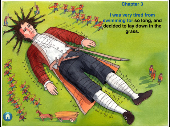 eReading: Gulliver's Travels, Lilliput iPad Screenshot 3