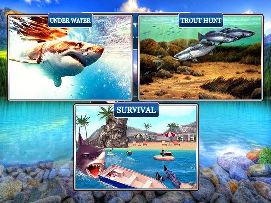 Flying Hungry Shark Attack Limbo Adventure-ipad-1