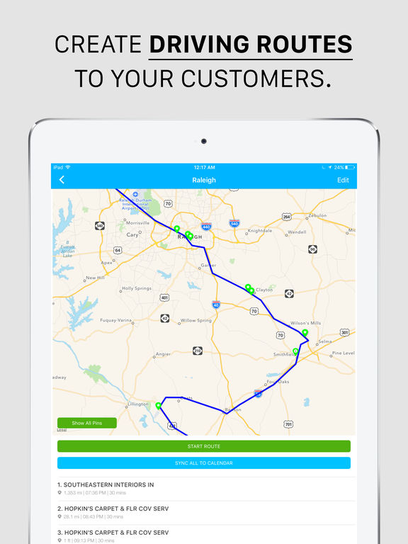 Map My Customers, Route Planner & Sales Automation Screenshots