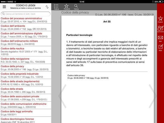 Costituzione e Leggi iPad Screenshot 2