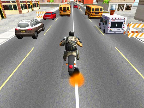 Moto Racer 3D: Highway screenshot 2
