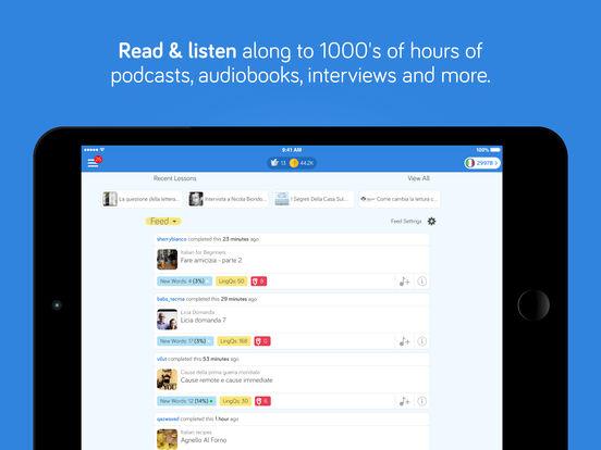 iLingQ Language Learning & Flashcards iPad Screenshot 2