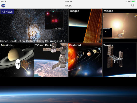 NASA App iPad Screenshot 1