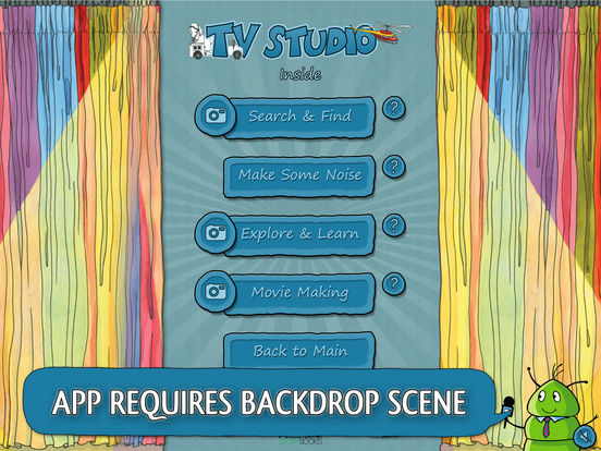 K.I.W.i. Storybooks - TV Studio iPad Screenshot 2