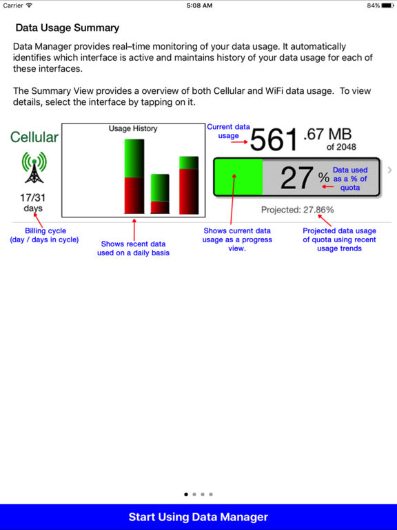 Data Manager Pro - Data Usage Screenshots