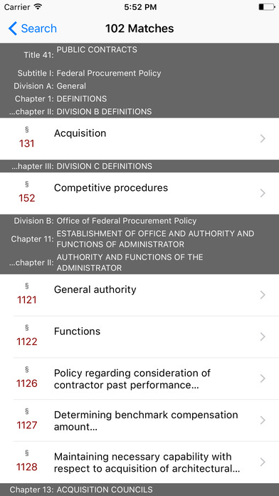 Public Contracts (Title 41 United States Code) iPhone Screenshot 5