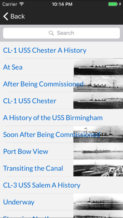 Cruisers of the US Navy iPhone Screenshot 2