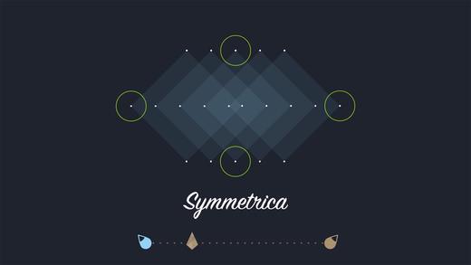 Symmetrica - Minimalistic arcade game Screenshot