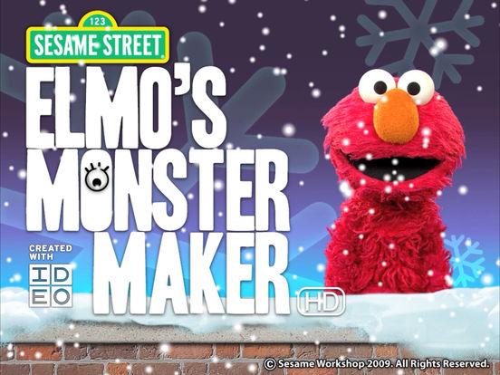 Elmo's Monster Maker HD iPad Screenshot 1