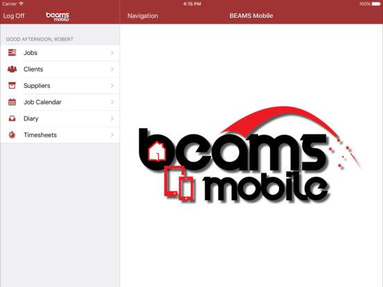 BEAMS Mobile iPad Screenshot 1