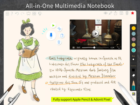 NoteLedge Ultimate-All-In-One Multimedia Notebook Screenshots