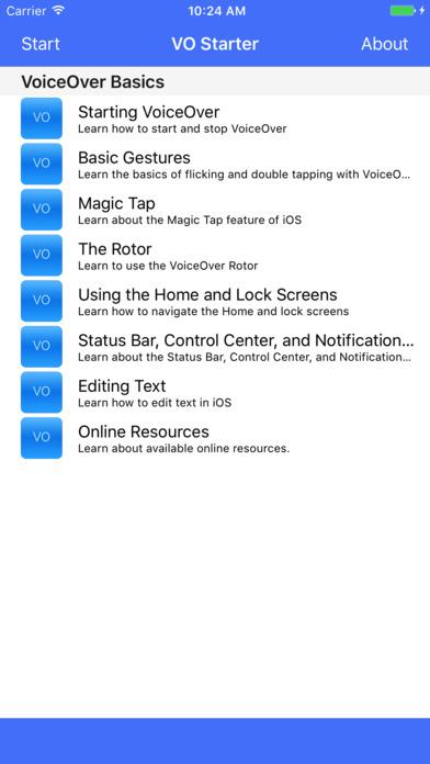 VO Starter Screenshots