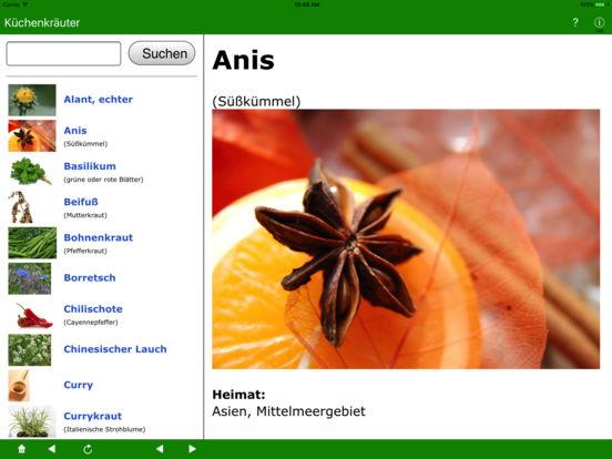 Küchenkräuter iPad Screenshot 1