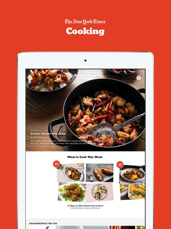 Nyt cooking recipes from the new york times en app store captura de pantalla del ipad 1 forumfinder