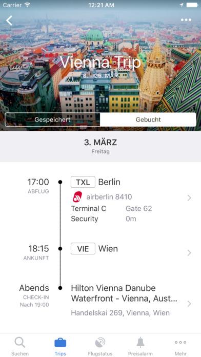 Flugsuche - für Urlaub und Geschäftsreisen iPhone Screenshot 3
