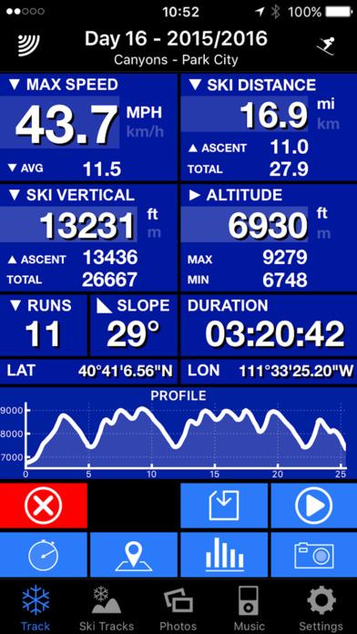 SKI TRACKS - GPS TRACK RECORDER iPhone Screenshot 4