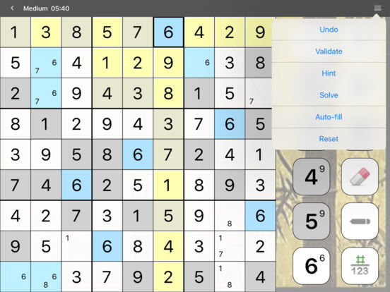 Screenshots of Sudoku (Full Version) for iPad