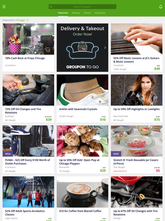 Screenshots of Groupon - Deal, Coupon & Discount Shopping App for iPad