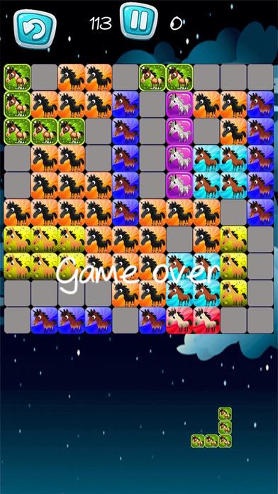 Pony Unicorn New Tetri Puzzle Flow screenshot 3