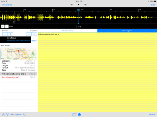 Smart Recorder and Transcriber - All Features Screenshots