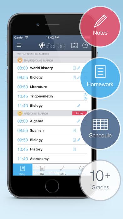 iSchool - School diary Screenshot