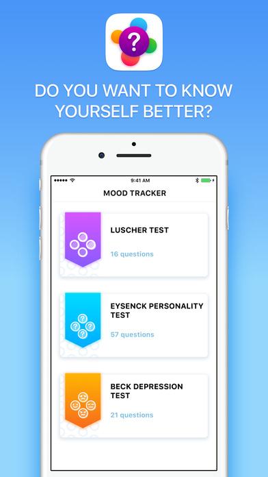 Mood Tracking - Personality Test Pro Screenshot 1