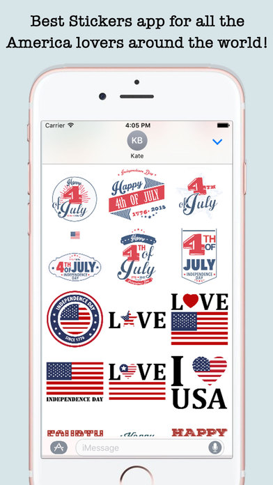 4th Of July Wishes Stickers For iMessage screenshot 1