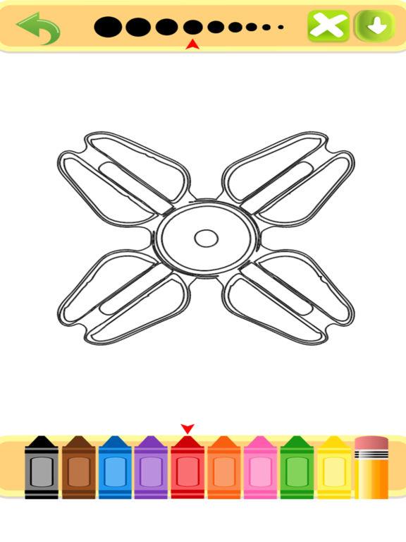Скачать Fidget Spinner Coloring Book
