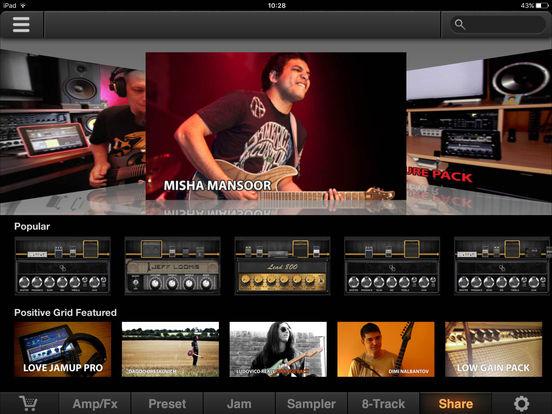 Screenshot #1 for JamUp Pro