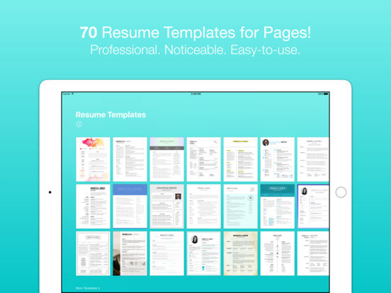 resume templates for pages by nobody on the app store