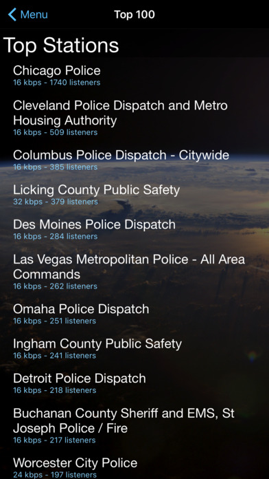Screenshots of Police Scanner+ Free for iPhone