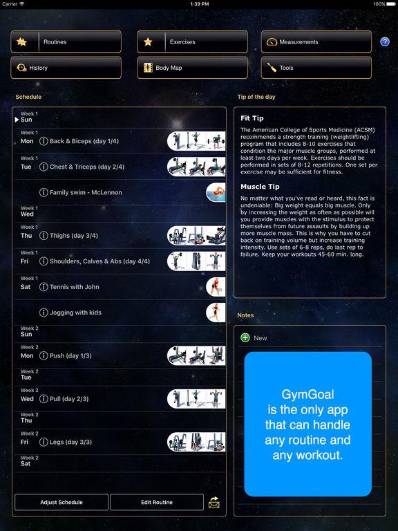 GymGoal Pro Screenshots