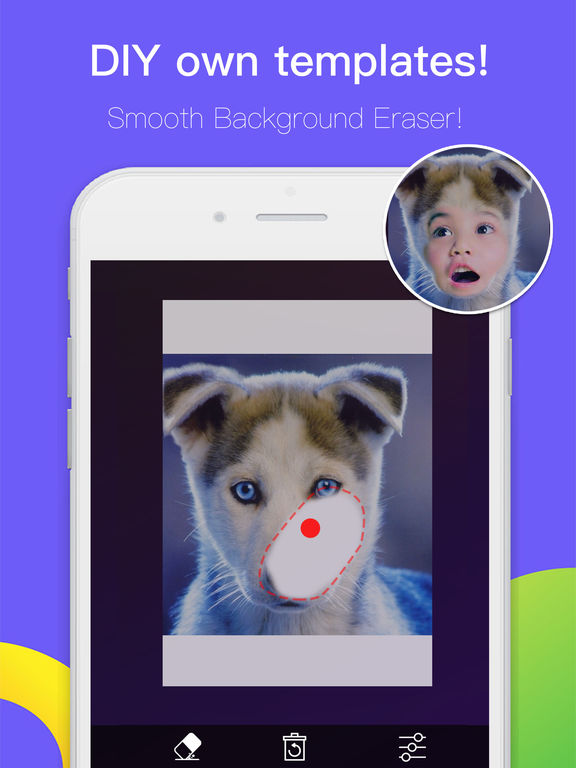 Screenshots of Face Morph FREE - Change & Swap Head in Pic Frame Hole with Photo Blender and Color Effects! for iPad