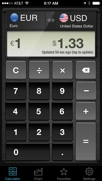 Currency Converter HD, money calculator with exchange rates for 150+ foreign currencies Screenshot 1
