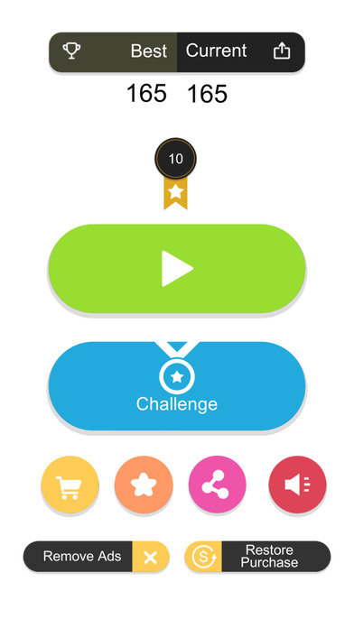 Tap Falling:Crush the tower of blocks screenshot 1