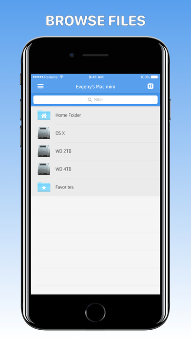 Remote Drive for Mac - File Browser & Player [PRO] Screenshots