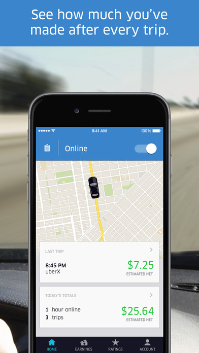 Screenshots of Uber Driver for iPhone