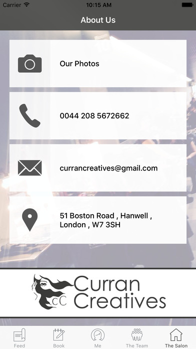Curran Creatives screenshot
