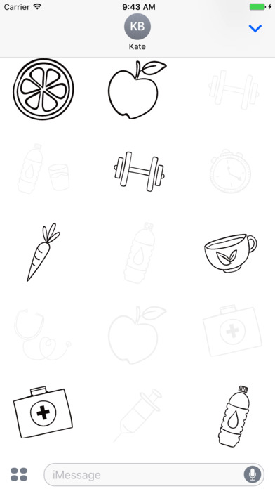 Animated Cute Healthy Stickers screenshot 2