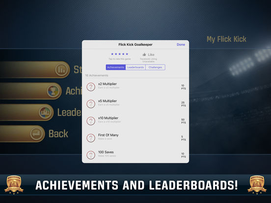 Screenshots of Flick Kick Goalkeeper for iPad