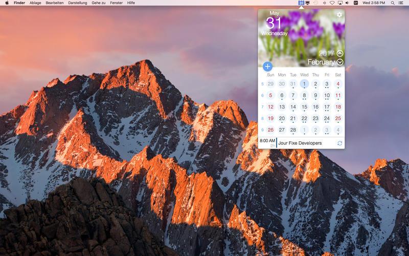 miCal for Mac 1.0.1 激活版 - 优秀的菜单栏日历工具