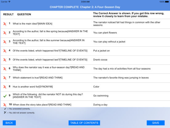 3rd Grade Reading Comprehension Practice Screenshots