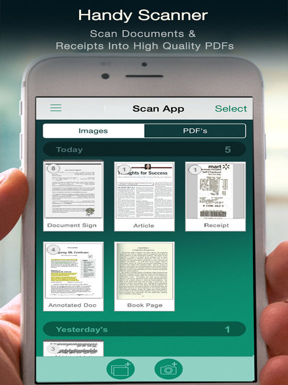 Scanner - PDF Document iScanner App Screenshots