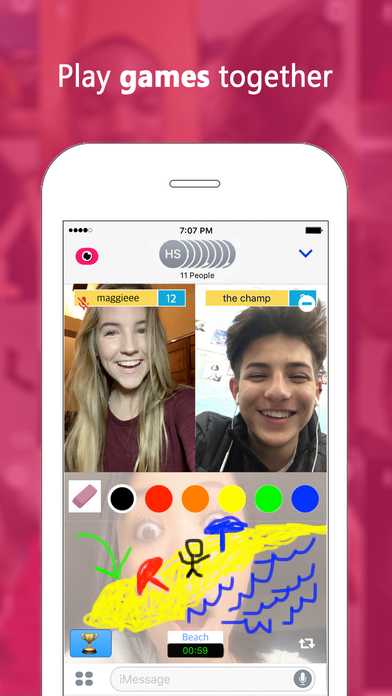 download Fam — Group video calling for iMessage apps 4